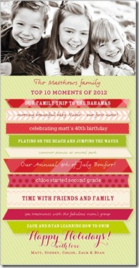 top 10 moments of 2012 holiday card idea