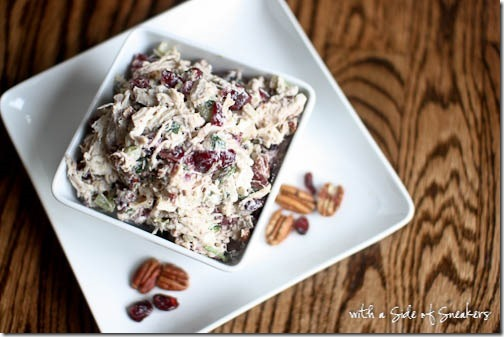 Cranberry pecan chicken salad recipe - gluten free dairy free