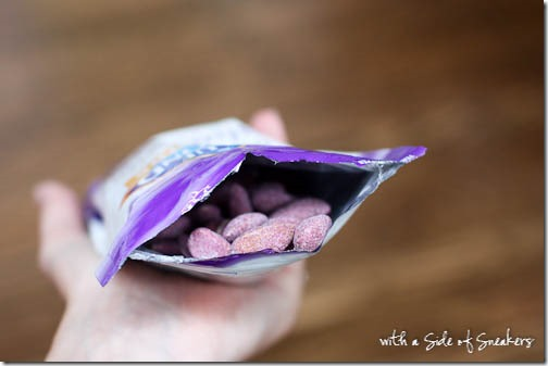 blueberry flavored almonds