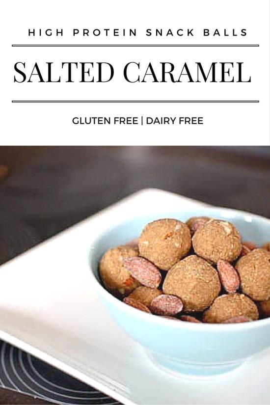 Salted caramel high protein snack balls - gluten free, dairy free