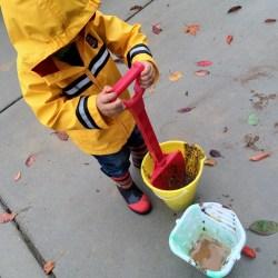 kid in the rain