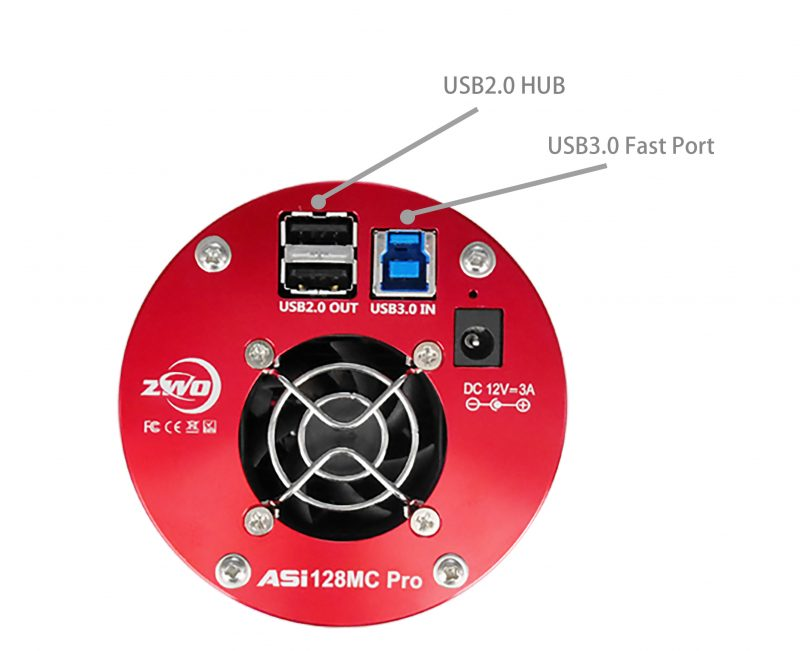 ASI128MC Pro USB Connections