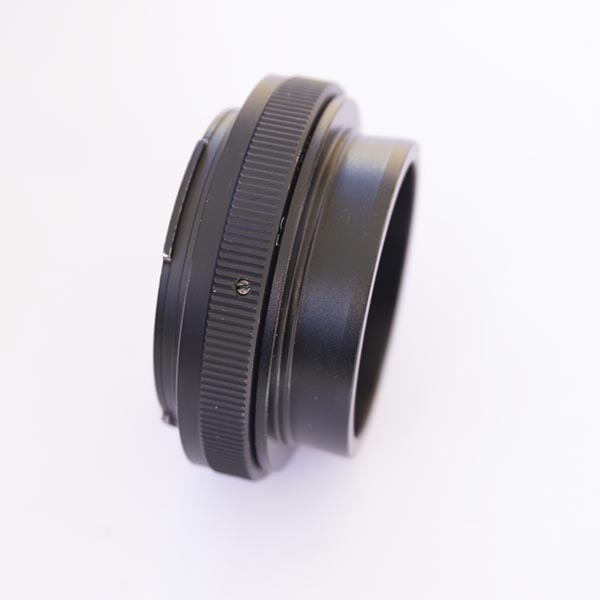 """2 """" Nosepiece attached to EOS T adapter"""