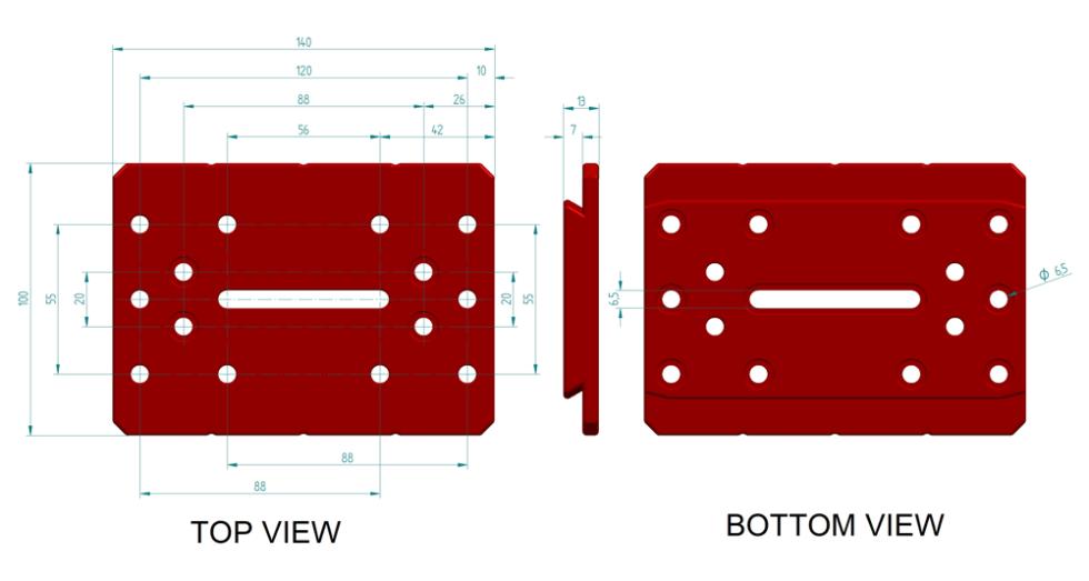 PLLLOS140P Dimensions