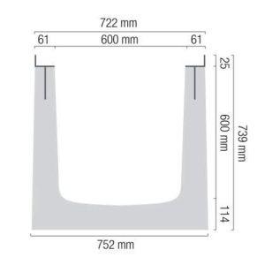 canale BG 600-740 misure