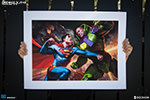 Superman vs Lex Luthor Premium Art Print