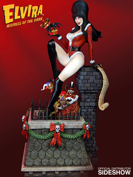 Elvira Elvira Scary Christmas Maquette By Tweeterhead