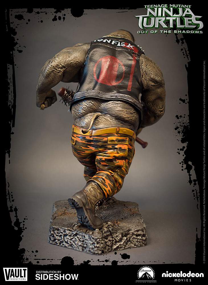 TMNT Rocksteady Statue By Vault Productions Sideshow