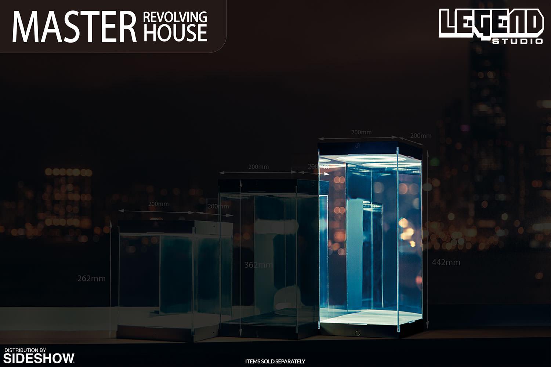 Master Revolving House Black Display Case By Legend Studio