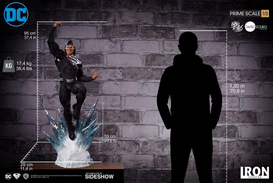 Superman Black Suit Iron Studios Statue