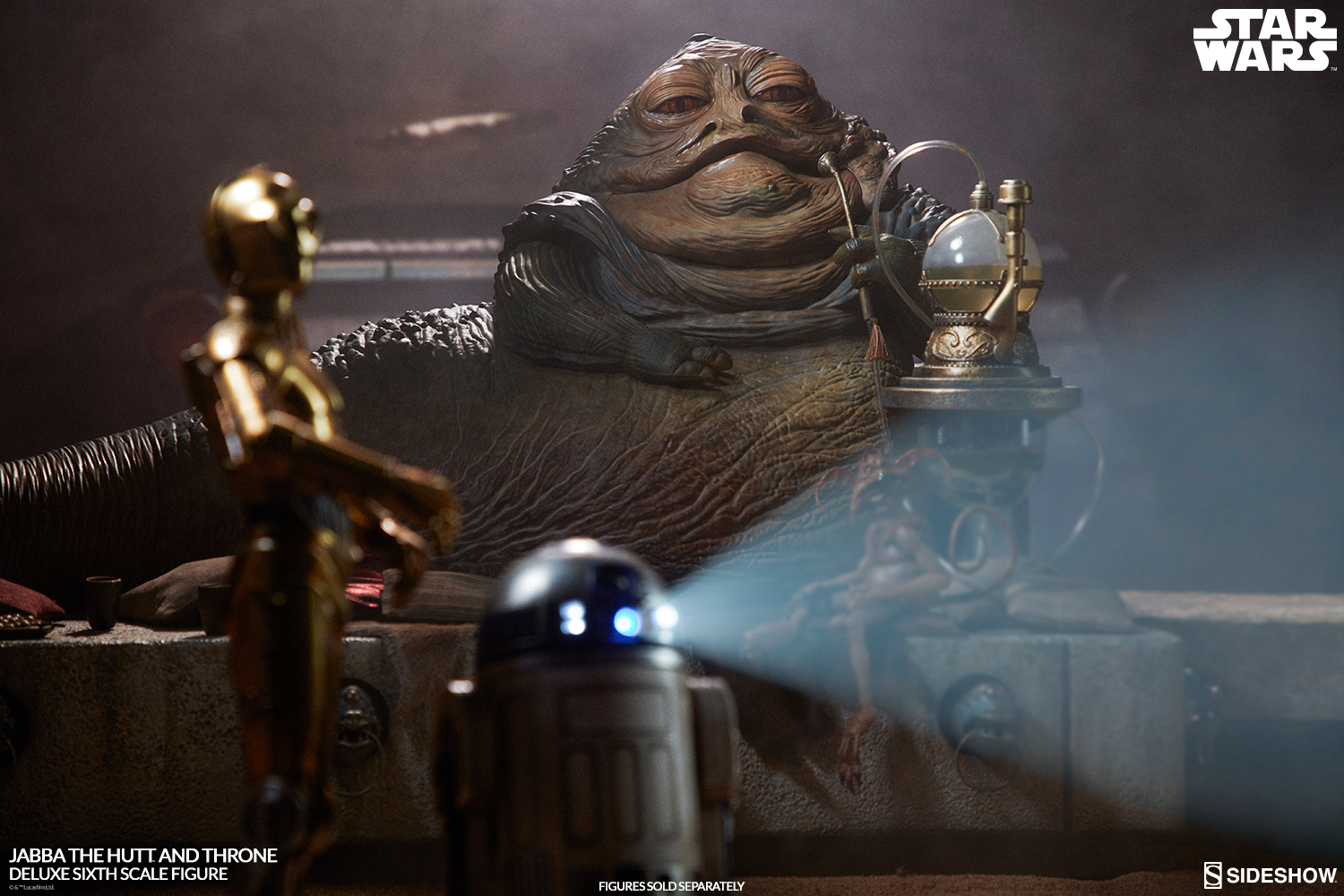 Behold The Illustrious Jabba The Hutt And Throne Deluxe Sixth Scale Figure Set