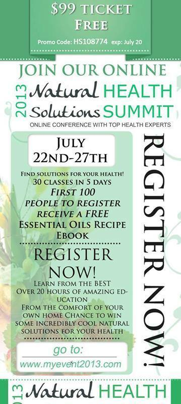 Free Natural Solutions Online Health Summit ($99 value!)