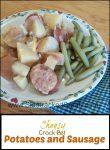 Cheesy Crockpot Sausage & Potatoes