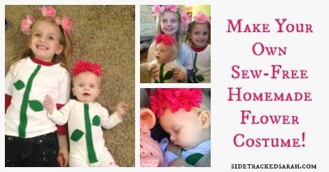 Homemade Flower Costume for Baby & Kids