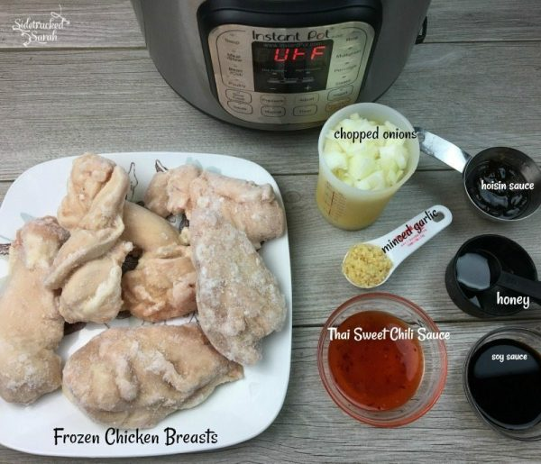 Instant Pot Honey Garlic Chicken Sliders Recipe Ingredients