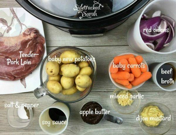 Slow Cooker Pork Tenderloin & Veggies