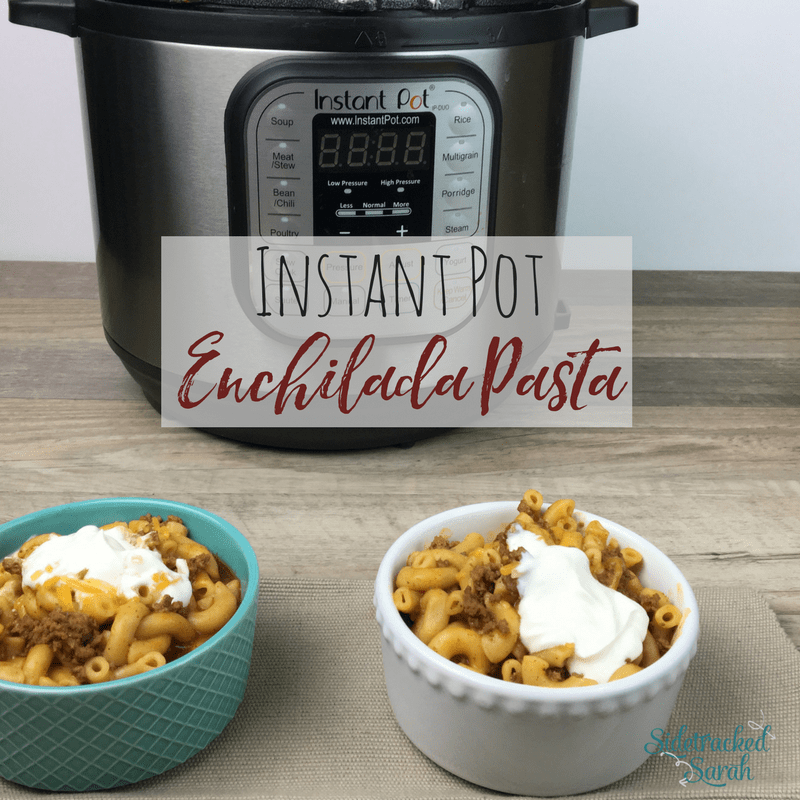 Instant Pot Ground Beef Enchilada Pasta