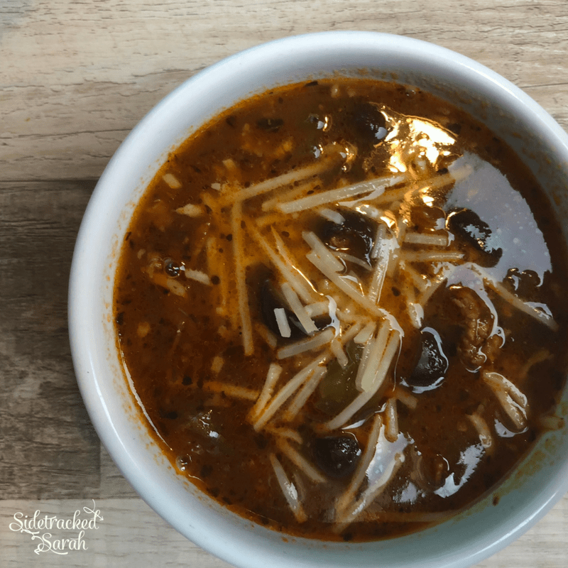 Slow Cooker Pizza Soup