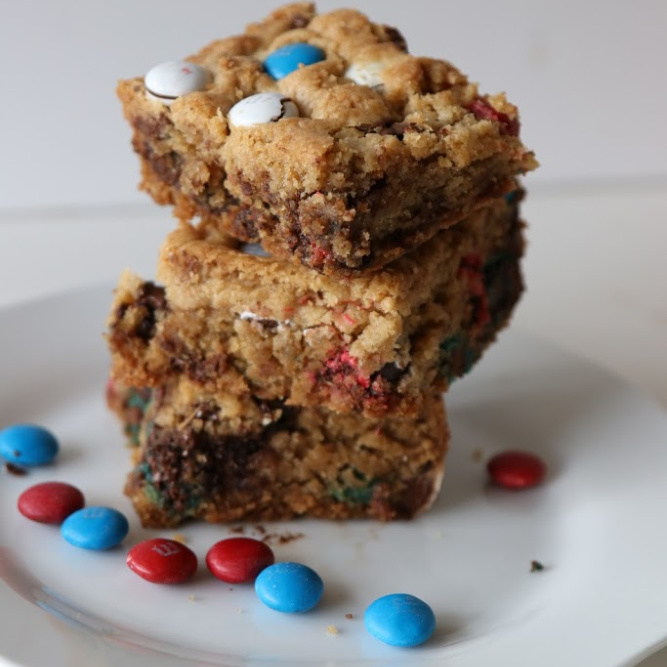 Chocolate Chip Cookie Bars with M&M's® Chocolate Candies