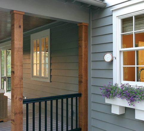 fiber cement lap siding porch