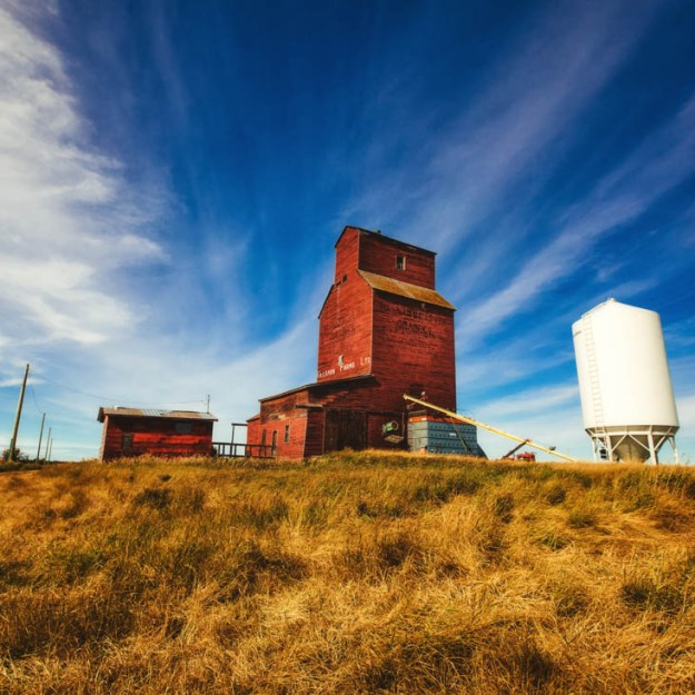 Killearn Farms Ltd. elevator in Shonts, Rural Alberta, Alberta agriculture landscape.