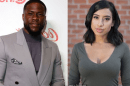 Collage of Montia Sabagged and Kevin Hart (left)