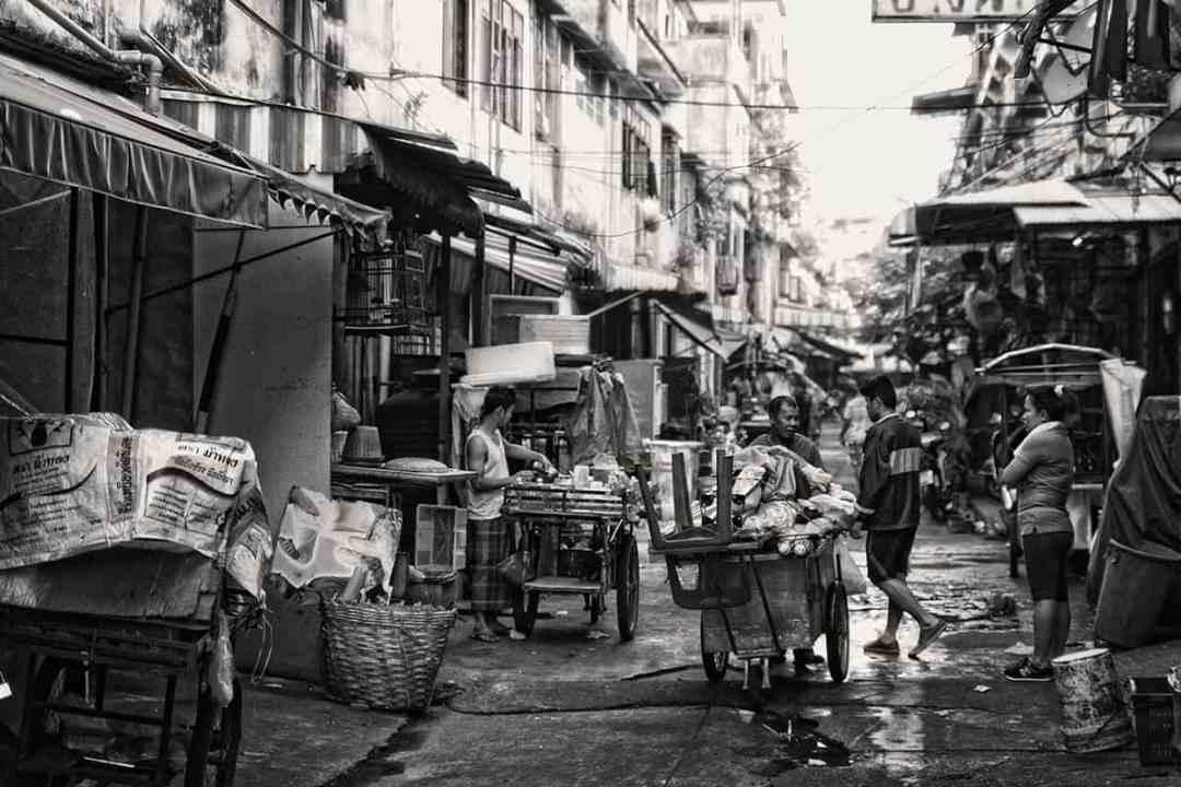 Zijstraat Bangkok