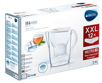 BRITA Wasserfilter Marella weiß inkl. 12 MAXTRA+ Filterkartuschen – BRITA Filter Jahrespaket zur Reduzierung von Kalk, Chlor & geschmacksstörenden Stoffen im Wasser - 2