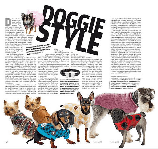 Doggie Style: Hunde-Mode (Siems Luckwaldt für how to spend it)