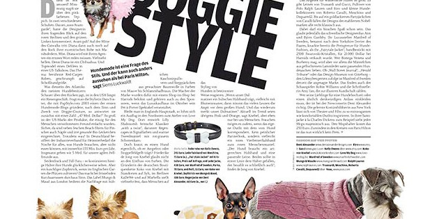Doggie Style: Hunde-Mode (für how to spend it)