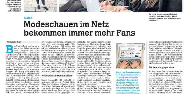 """""""Mode entsteht heute im Netz"""": Als Experte in den """"Stuttgarter Nachrichten"""""""