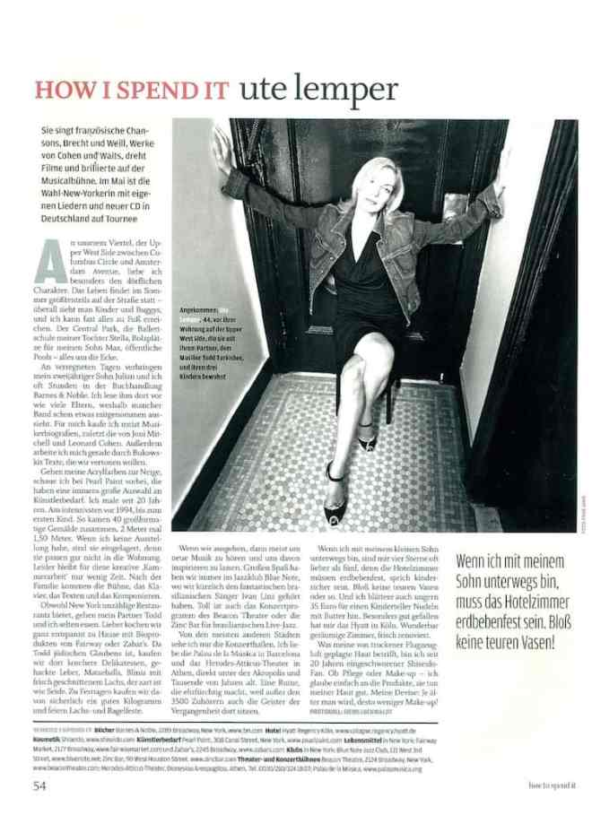 Interview mit Ute Lemper (für how to spend it)