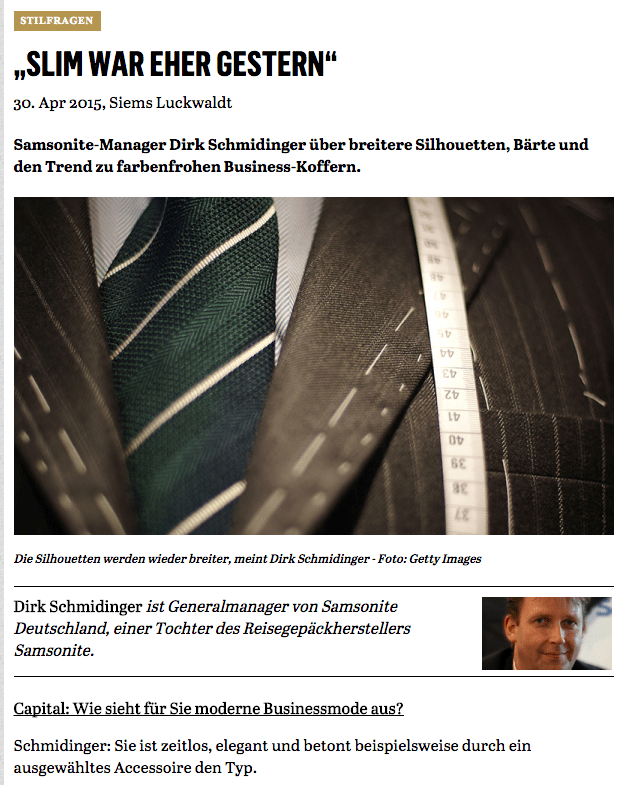 Was Mann trägt: Dirk Schmidinger, Samsonite