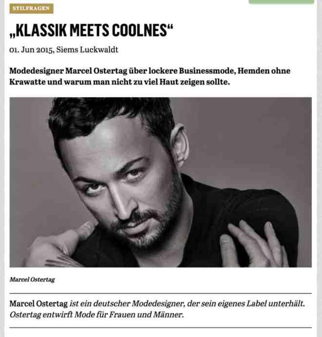 Was Mann trägt: Marcel Ostertag (für Capital.de)