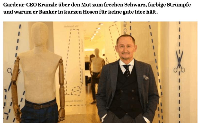 Was Mann trägt: Gerhard Kränzle, Gardeur (für Capital.de)