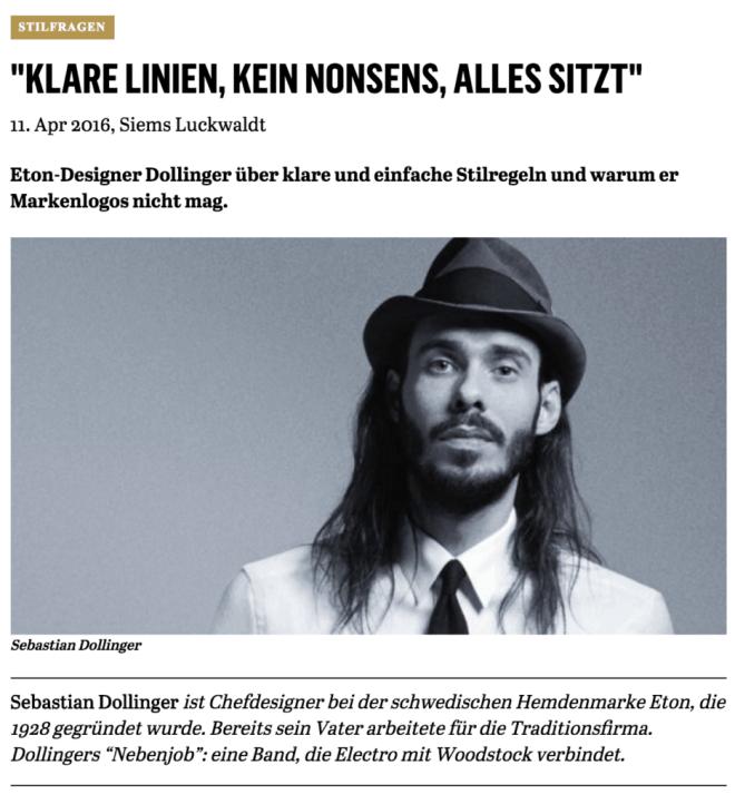Was Mann trägt: Sebastian Dollinger, Eton (für Capital.de)