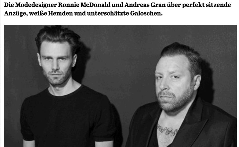 Was Mann trägt: Ronnie McDonald & Andreas Gran, Tiger of Sweden (für Capital.de)
