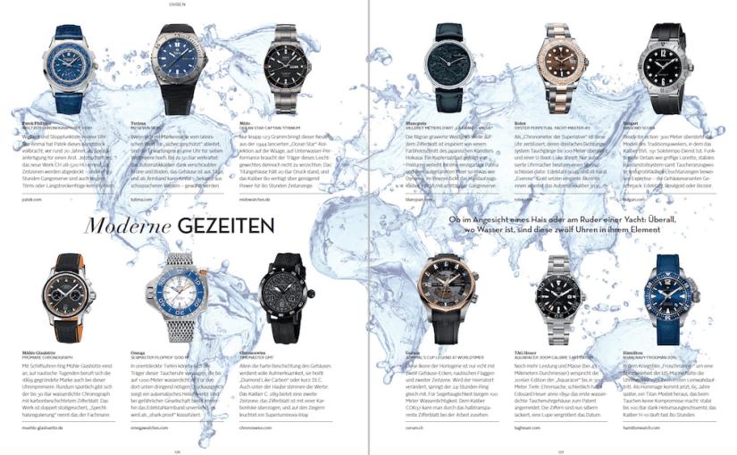 Maritime Uhren (für L'Officiel Hommes)