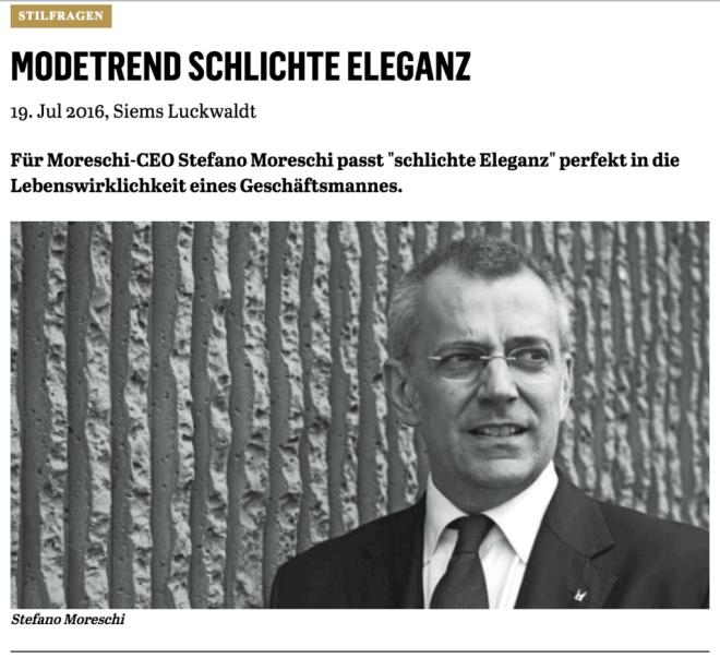 Was Mann trägt: Stefano Moreschi (für Capital.de)