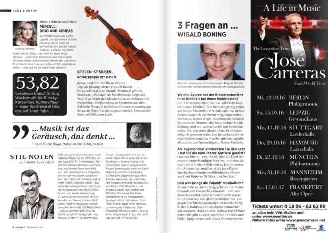 Kolumne: Stil-Noten, September (für Concerti)