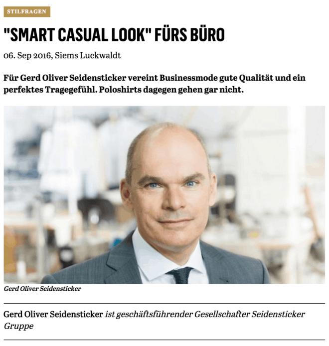 Was Mann trägt: Gerd Oliver Seidensticker (für Capital.de)