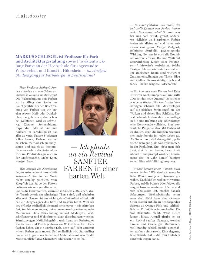 Interview: Prof. Markus Schlegel, Farbdesigner