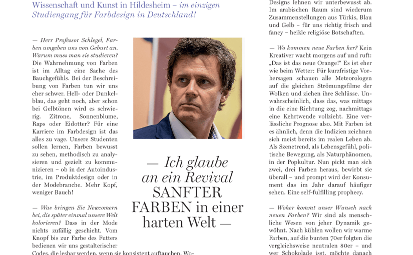 Interview: Prof. Markus Schlegel, Farbdesigner (für Flair)