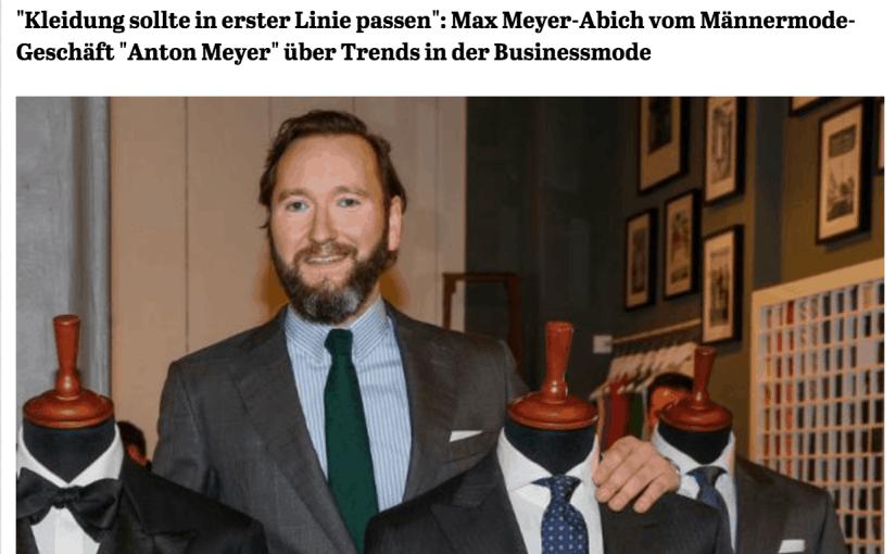 Was Mann trägt: Max Meyer-Abich, Anton Meyer (für Capital.de