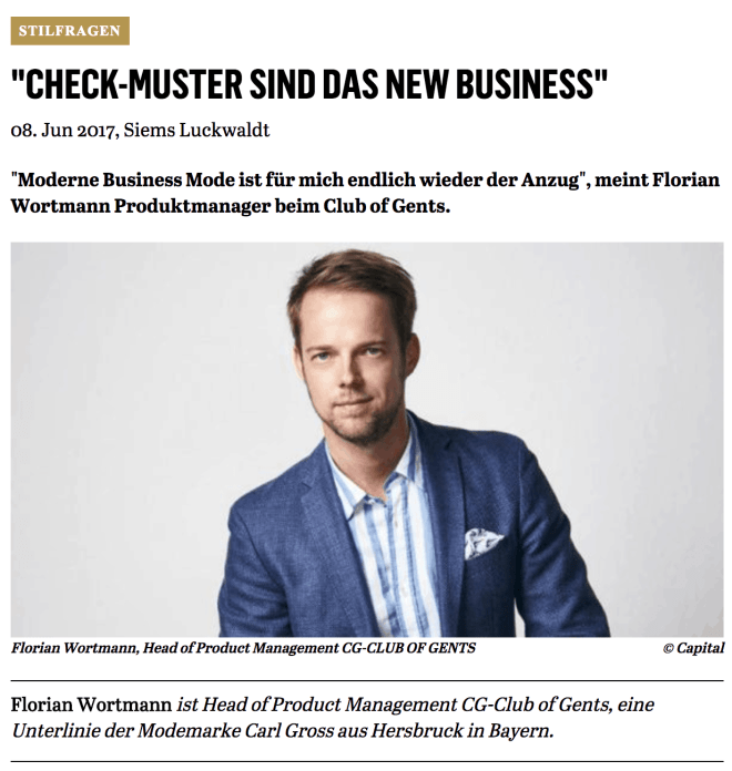 Was Mann trägt: Florian Wortmann, Club of Gents