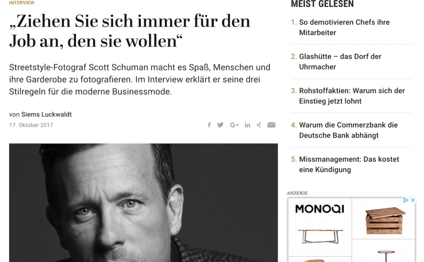 Interview: Scott Schuman, The Sartorialist (für Capital.de)