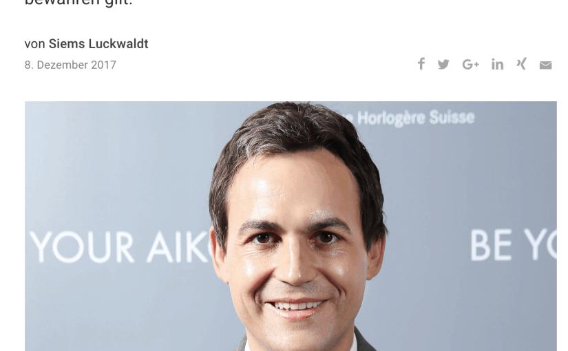 Zeitfragen: Stéphane Waser, Maurice Lacroix (für Capital.de)
