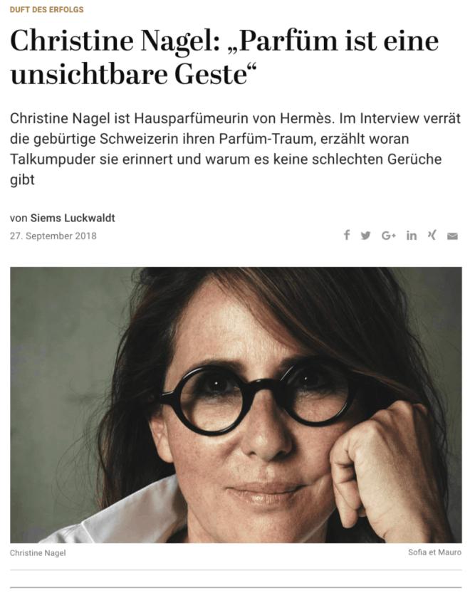 Duft des Erfolgs: Christine Nagel, Hermès