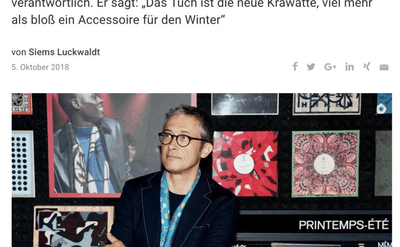 Seide ist Männersache: Christophe Goineau, Hermès (für Capital.de)