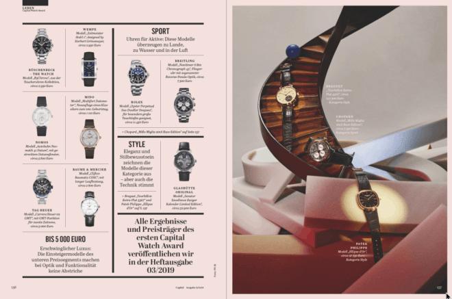 Preis der Zeit: 1. Capital Watch Award – Die Nominierten